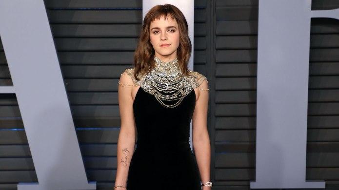 Emma Watson Embraces Her Oscars Temporary