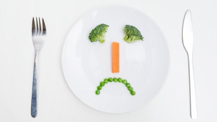 A sad face of vegetables