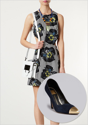 Floral dress and shoes to match