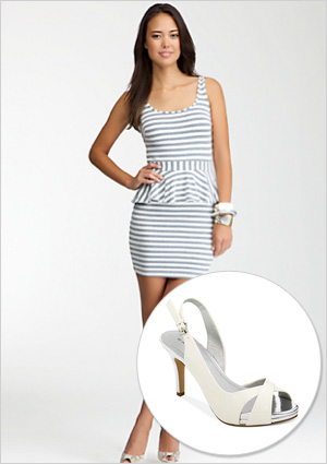 Seriously striped dress and shoes to match