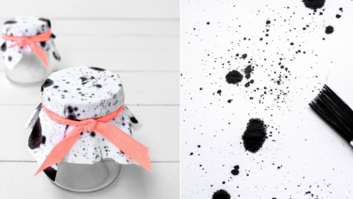 Trendy fabric jar covers