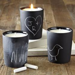 Chalkboard candlepots