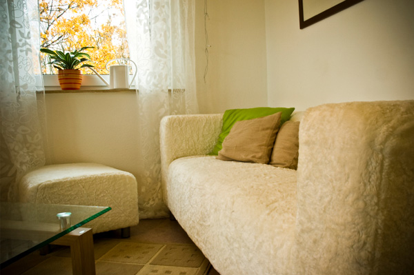 Fall living room with organic textures