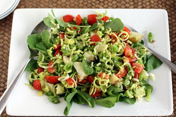 Farmers market salad with tarragon vinaigrette