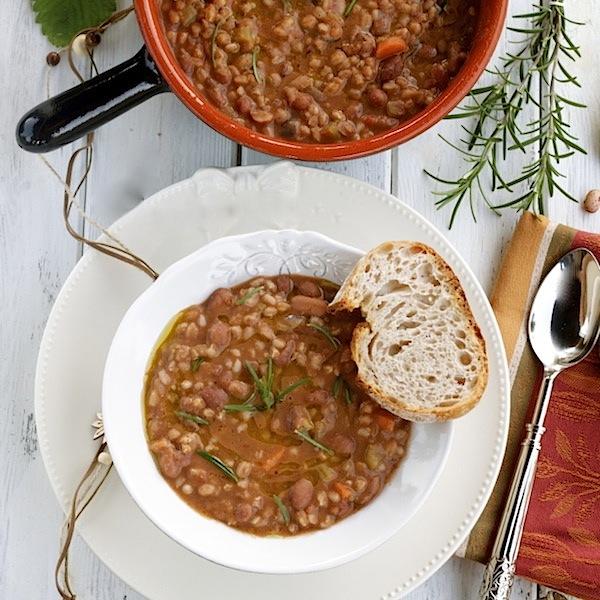 farro and bean soup