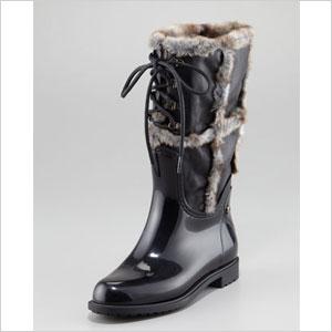 Colin Stuarts Faux Fur Cuff Boot