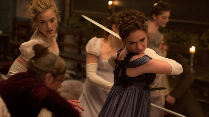 Lily James and Bella Heathcote in