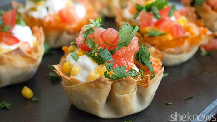 Muffin tin taco cups are a