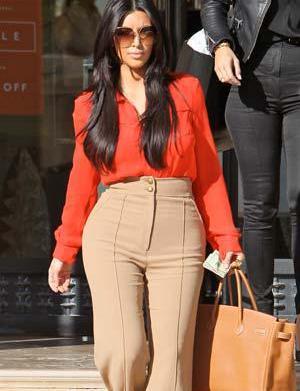 Kim Kardashian's high-waisted pants: Fab or