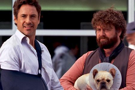 Zach Galifianakis and Robert Downey Jr