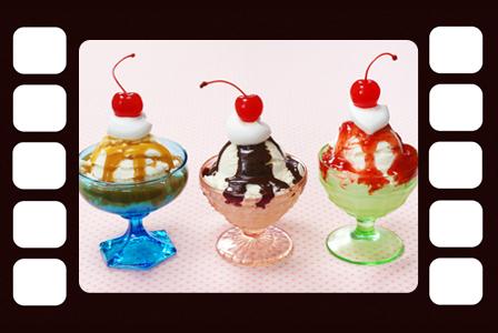 Ice cream in a film strip