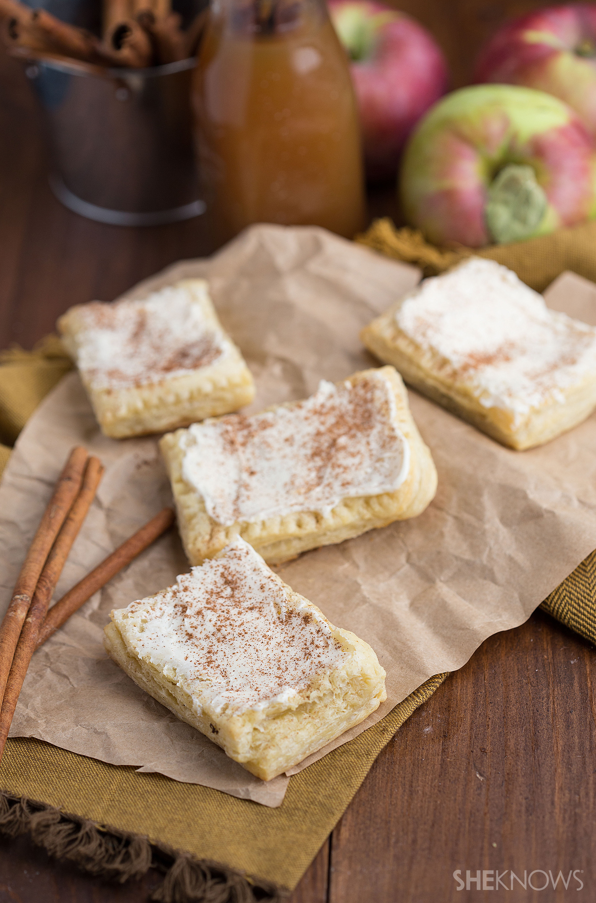Apple and cream cheese toaster strudel