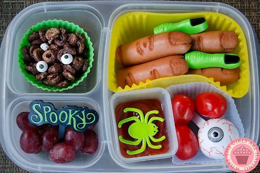 Halloween kids lunch for school