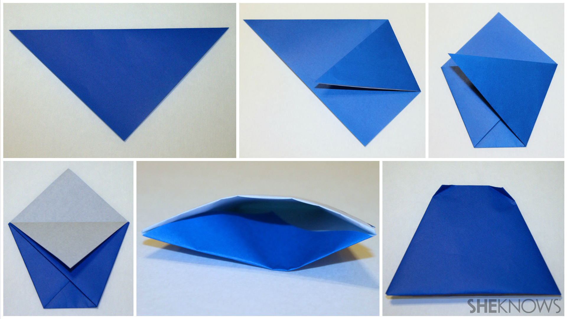 Origami finger puppet folding instructions