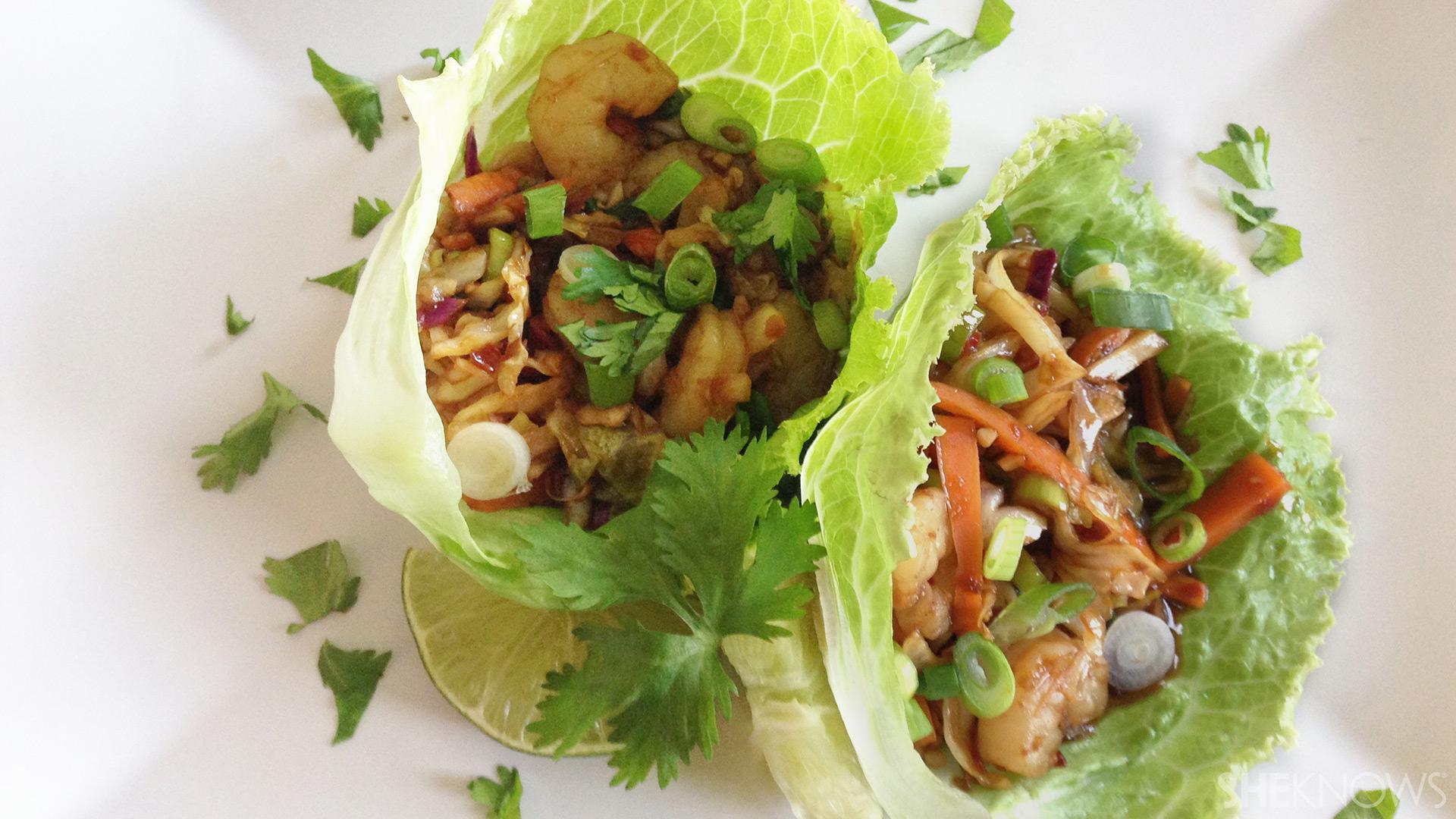Spicy shrimp lettuce wraps | Sheknows.ca