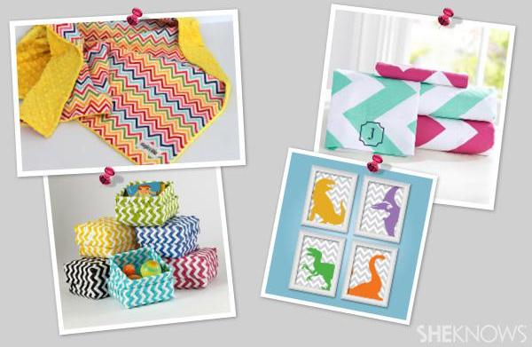 Chevron-inspired room decor for babies and