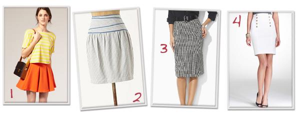 Flirty spring skirts
