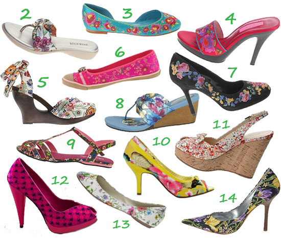 Floral shoes - flowers