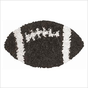 Football shaggy raggy rug | Sheknows.com