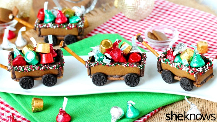 How to make gingerbread wagons that
