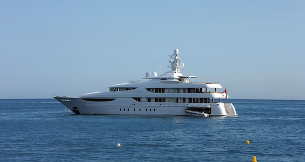The luxury yacht Kunis and Kutcher dined on in France.