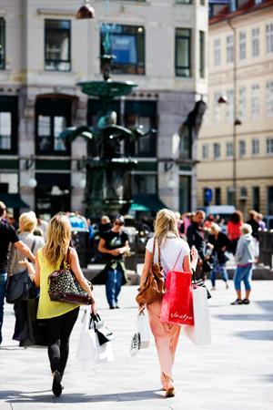 Shopping on Strøget street