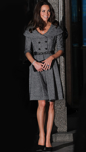 Kate Middleton's first solo appearance