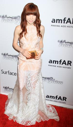 Carly Rae Jepsen at the amfAR Inspiration Gala