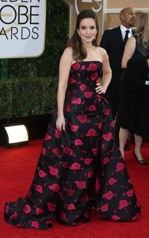 Tina Fey at the 2014 Golden Globes