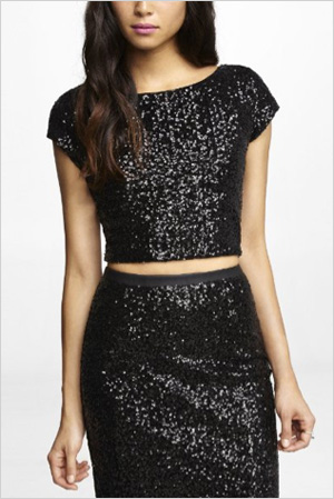 Shop the look: Express Sequin Embellished Cropped Tee (express.com, $36)