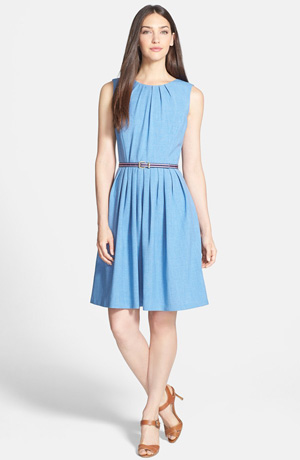 Shop the look: Ellen Tracy Belted Fit & Flare Dress (nordstrom.com, $118)