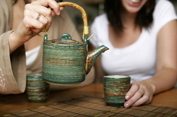 Friends with a teapot