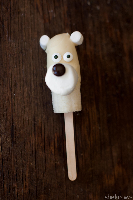 frozen banana polar bear popsicles