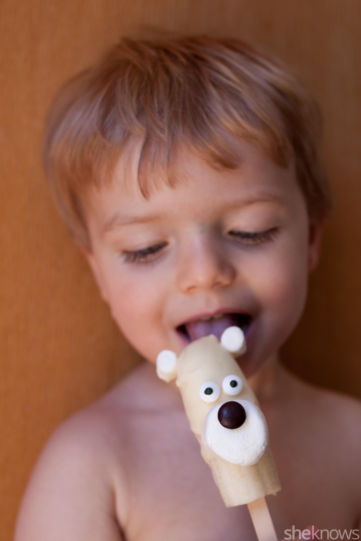 frozen banana polar bear popsicles for kids