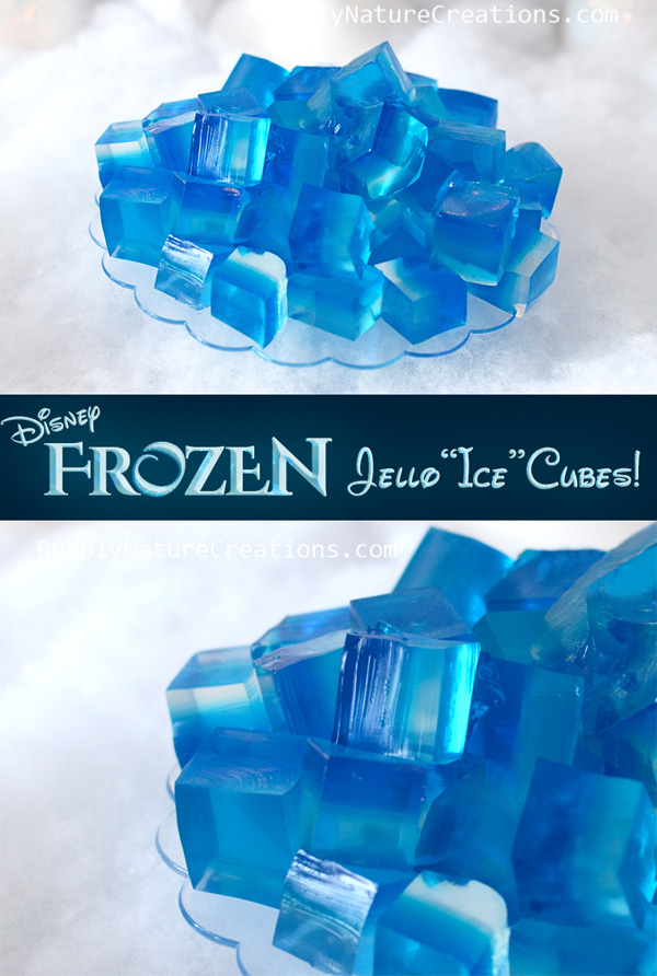 Jello ice cubes