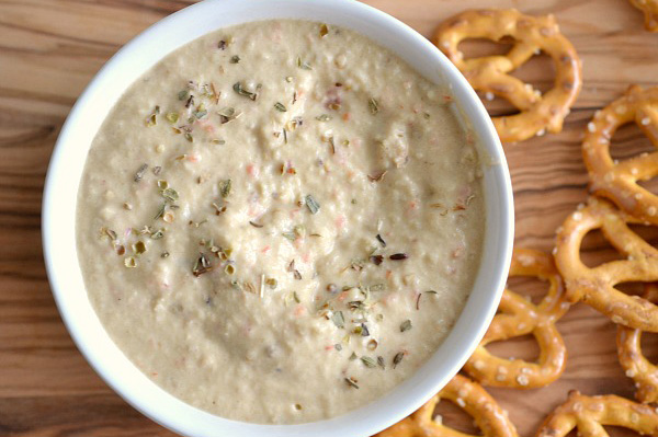 Roasted eggplant and goat cheese dip