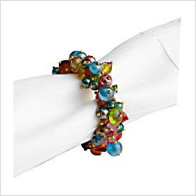 glass bead napkin rings from Pier 1 Imports