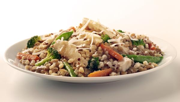 dinner plate of food
