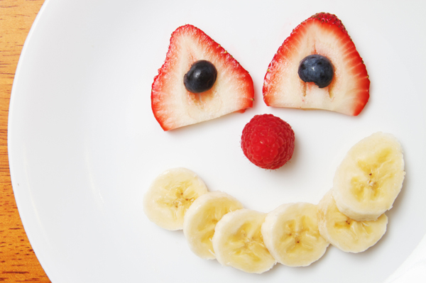 Funny fruit face