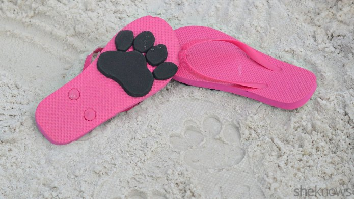 Make animal-print flip-flops for beach-time fun