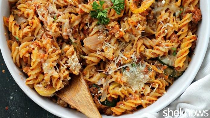 Cheesy pasta-sausage bake: The dish you
