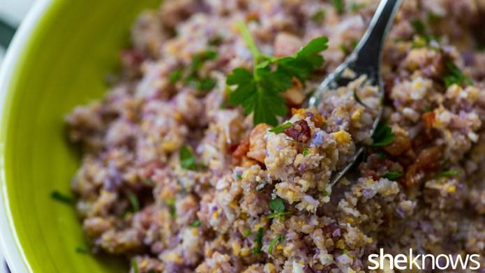 Cauliflower rice turns into comfort food