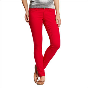 gap red skinny jeans