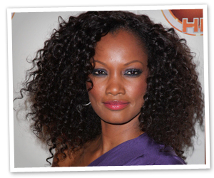 Garcelle Beauvais's black, curly celebrity hairstyle