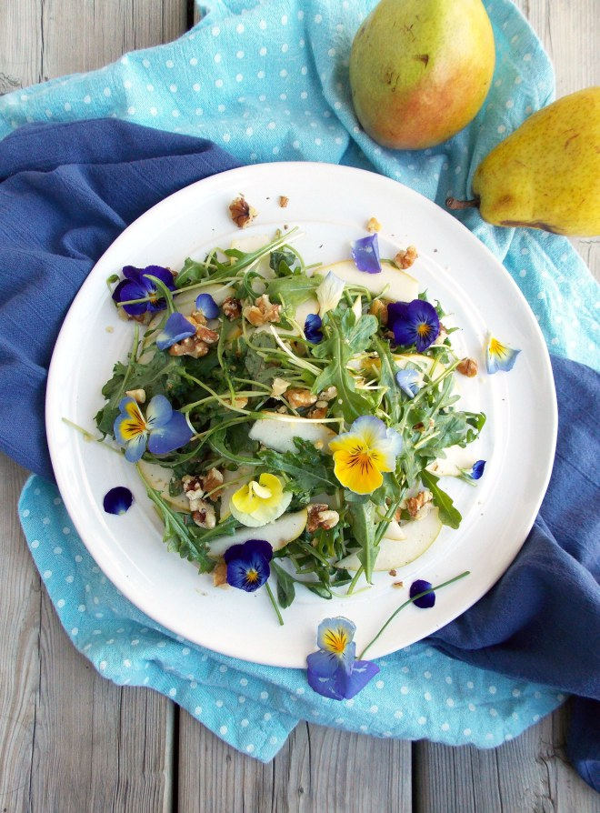 edible flower garnish