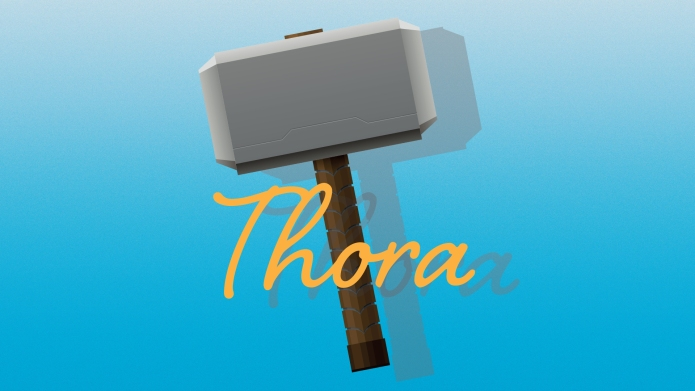 Scandinavian baby names: Thora with illustration