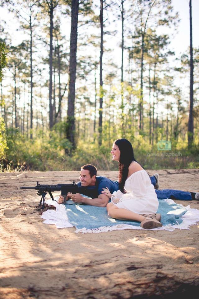 Shooting a gun to reveal gender