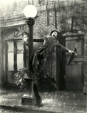 Gene Kelly in the film Singin' in the Rain