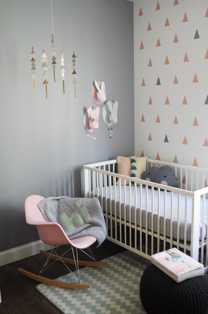 geometry patterns in baby room