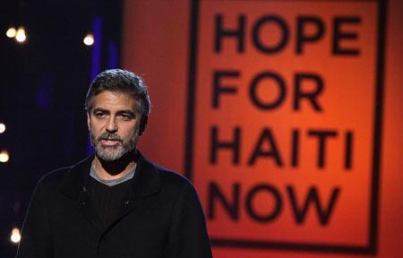George Clooney's Haiti telethon breaks fundraising records